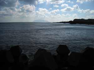 三宅島からの御蔵島