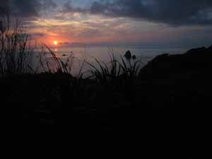 静沢之森の夕日