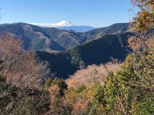 北高尾山稜の富士見台より